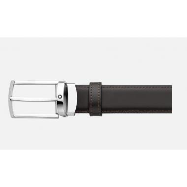 Montblanc Cintura elegante nera/marrone reversibile regolabile