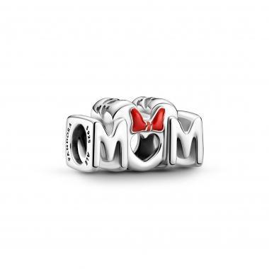 Pandora - Ciondolo con fiocco e mamma Disney Minnie