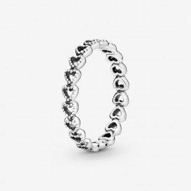 Pandora Anello fascia di cuori