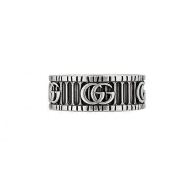 Gucci Anello con Doppia G in argento