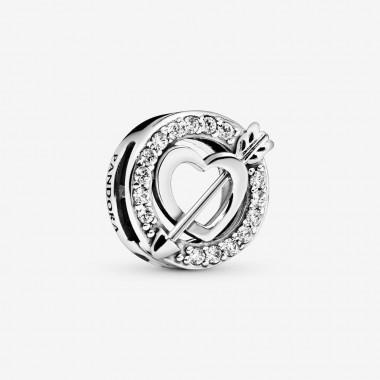 Pandora Charm Reflexions Cuore asimmetrico e freccia