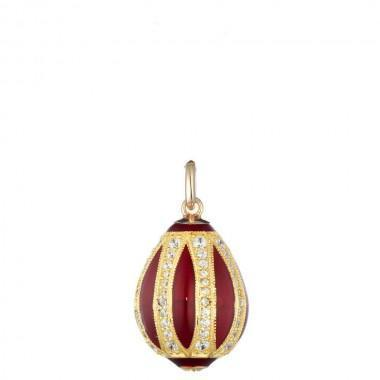 Fabergé Tatiana ciondolo in Argento e Smalto con Zirconi